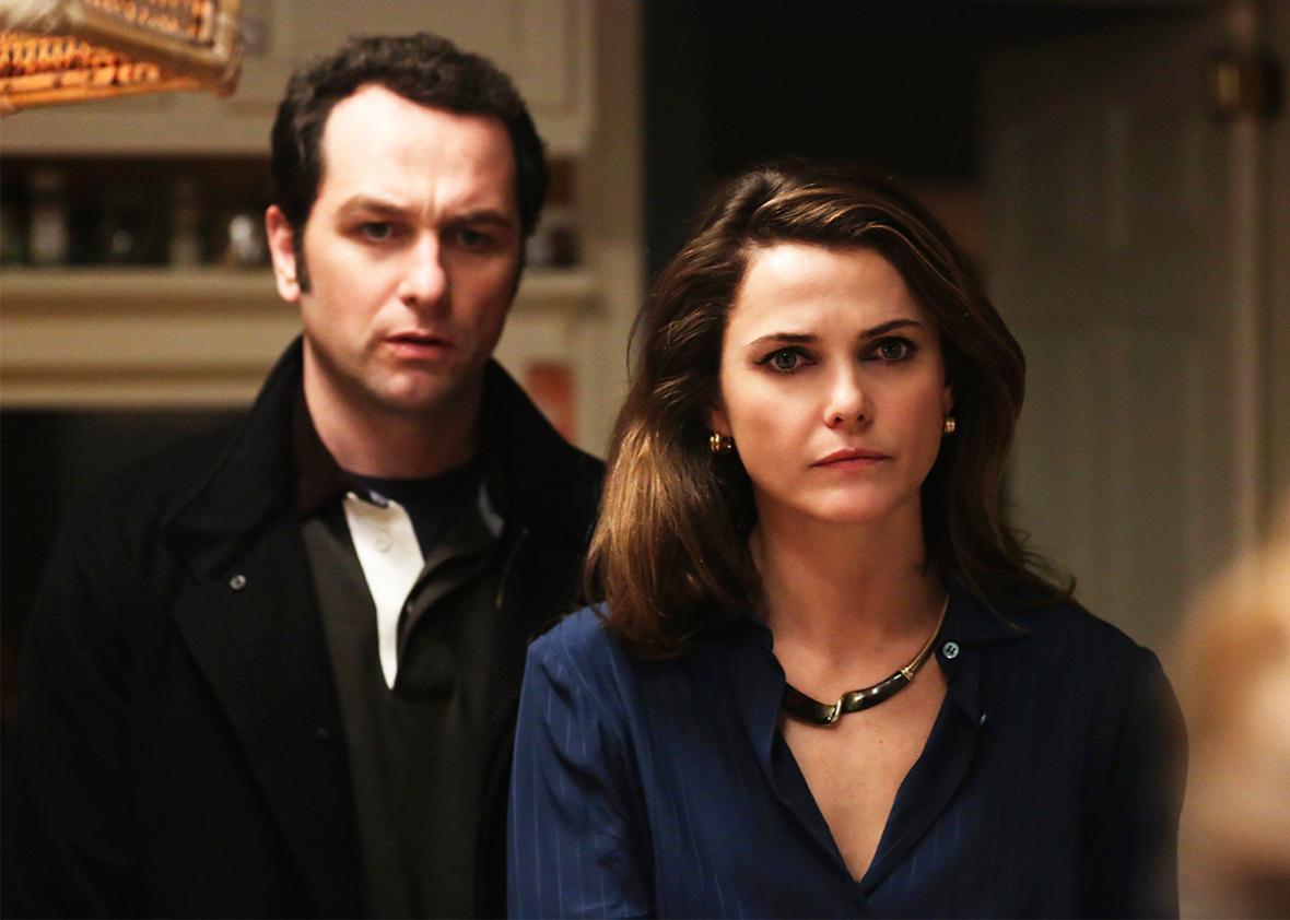 Matthew Rhys as Philip Jennings & Keri Russell as Elizabeth Jennings.