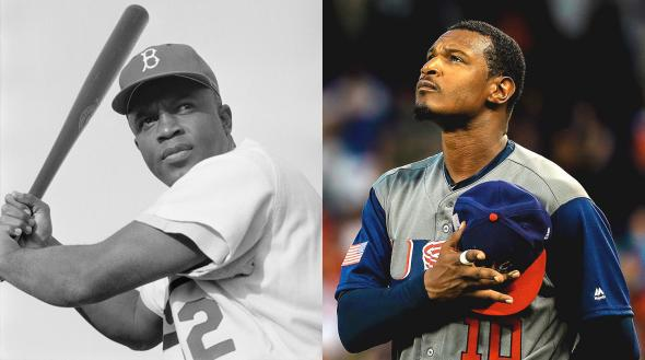 Jackie Robinson, Adam Jones.