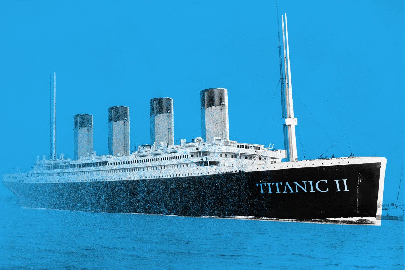 The Titanic II, fading away like a dream.