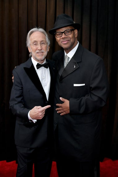 President and CEO of The Recording Academy Neil Portnow and Jimmy Jam attend the 61st Annual GRAMMY Awards at Staples Center.