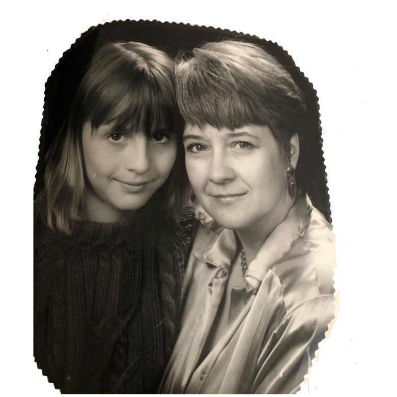 Eve Crawford Peyton as a child, with her mother.