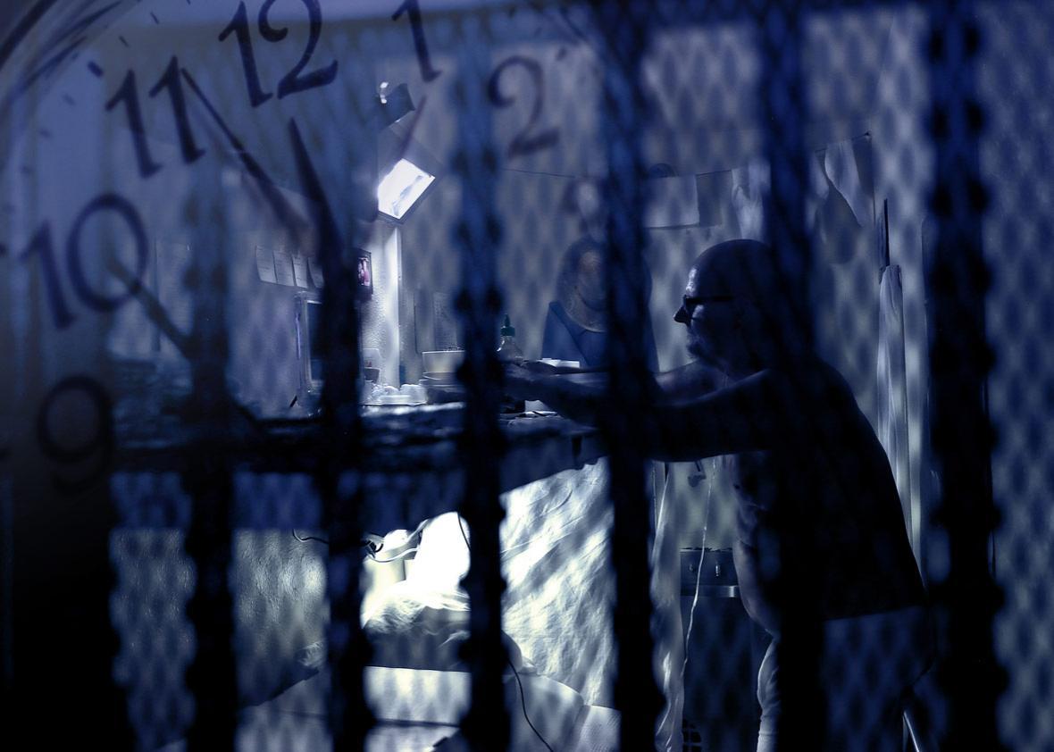 San Quentin State Prison's death row.