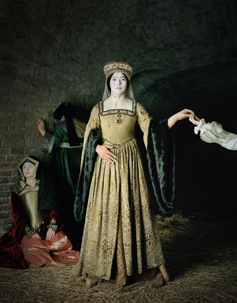 Existing in Costume. Anne Boleyn. 230x180 cm C-Print, 2012
