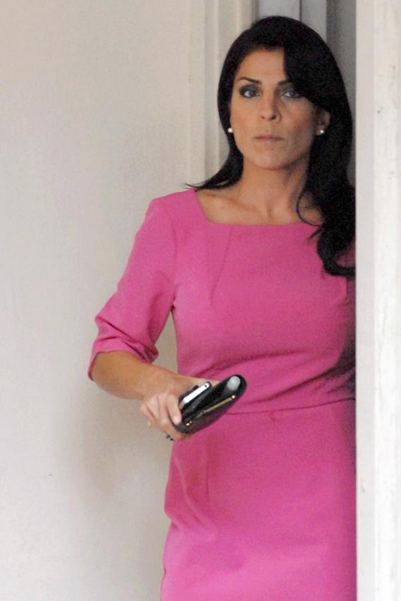 Jill Kelley leaves her home on Tuesday in Tampa, Florida.