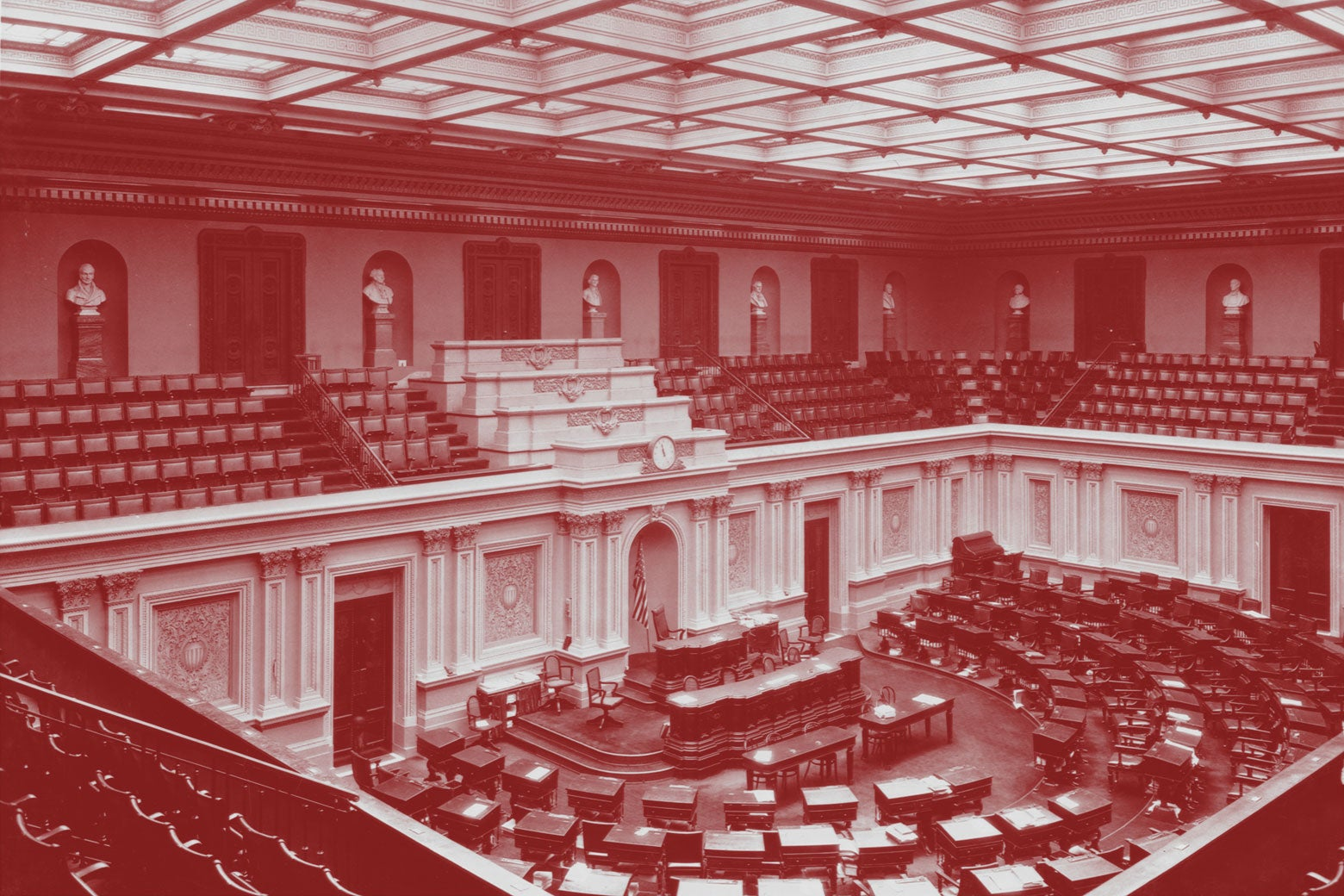 The Senate chamber in the U.S. Capitol.