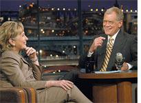 Hillary Clinton with David Letterman. Click image to expand.