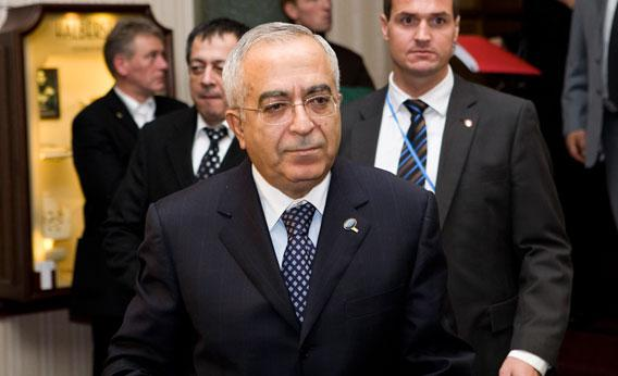 Palestinian Authority Prime Minister Salam Fayyed leaves a hotel after meeting Brazilian President Luiz Inacio Lula da Silva during the COP15 United Nations Climate Change Conference on December 16, 2009 in Copenhagen, Denmark.