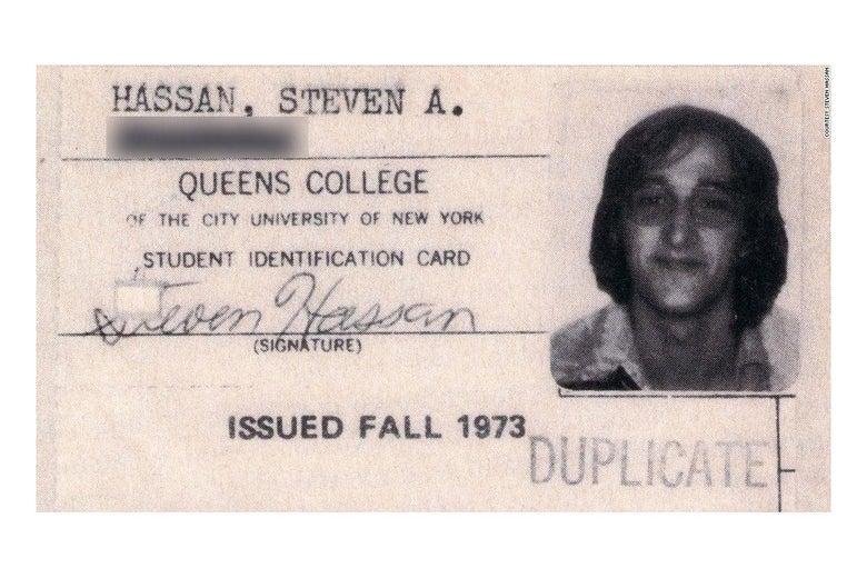 Steven Hassan's Queens College ID.