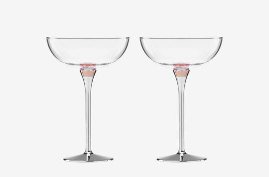 Kate Spade New York Rosy Glow Champagne Saucer.