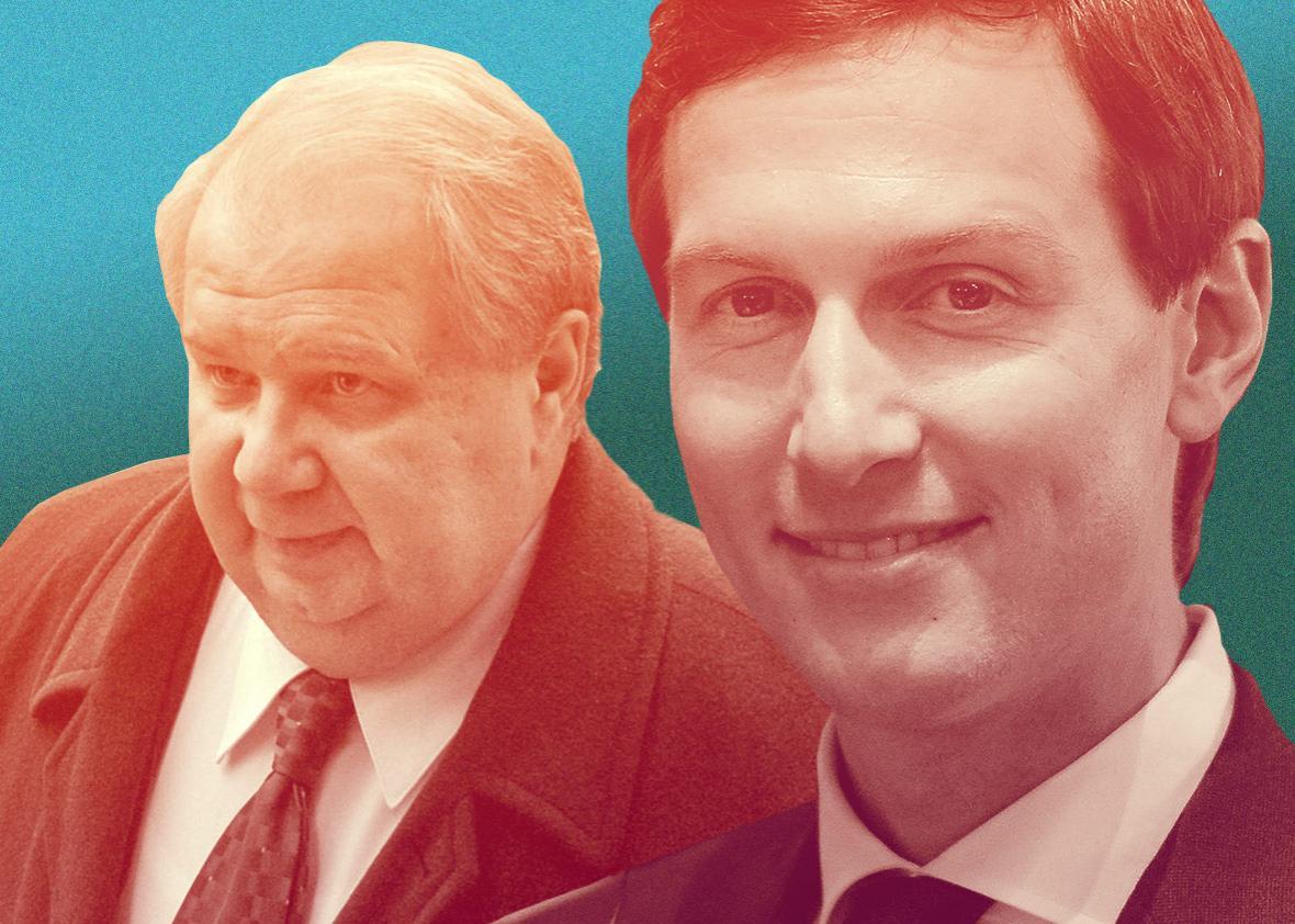 White House senior adviser Jared Kushner and Russian Deputy Foreign Minister Sergey Kislyak.