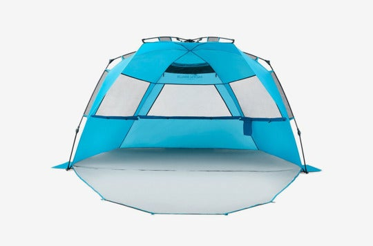 Pacific Breeze Easy Setup Beach Tent Deluxe XL With Extendable Floor.