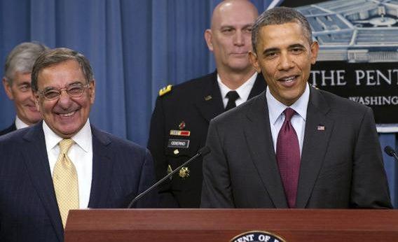 Leon Panetta and Barack Obama