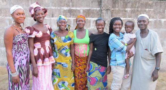 In March Adama K. spent a week in Makeni, Sierra Leone, visiting her birth father, birth sisters, and niece