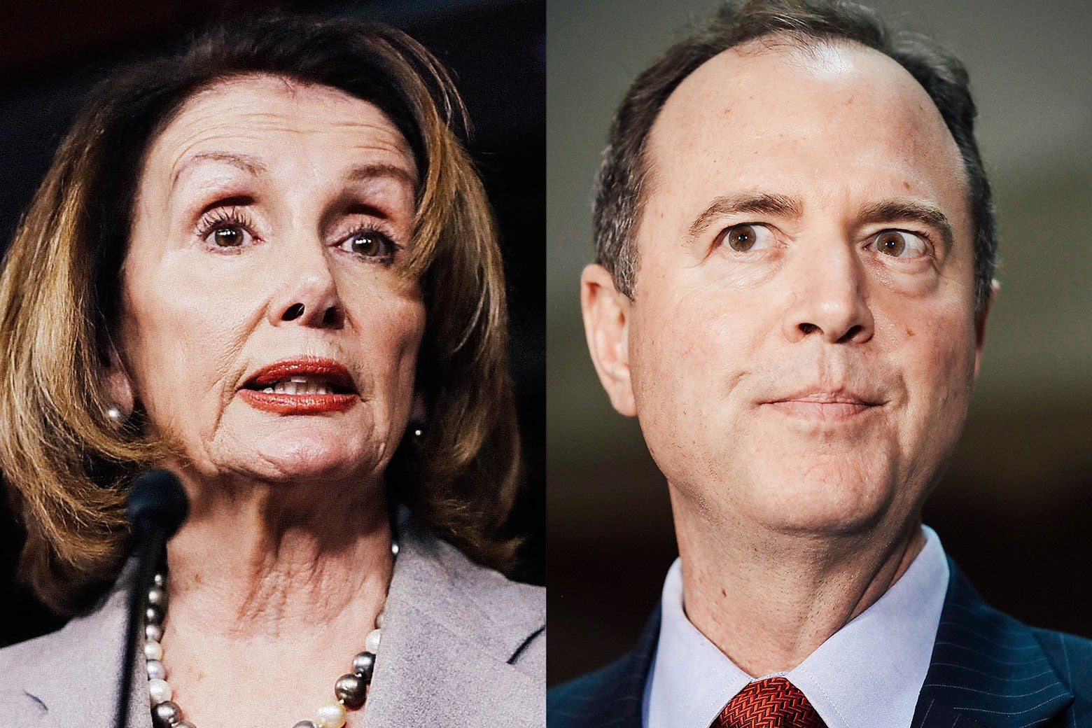 Nancy Pelosi and Adam Schiff.