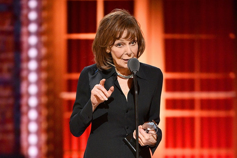 Elaine May accepts the Best Performance by an Actress in a Leading Role in a Play for The Waverly Gallery onstage during the 2019 Tony Awards.