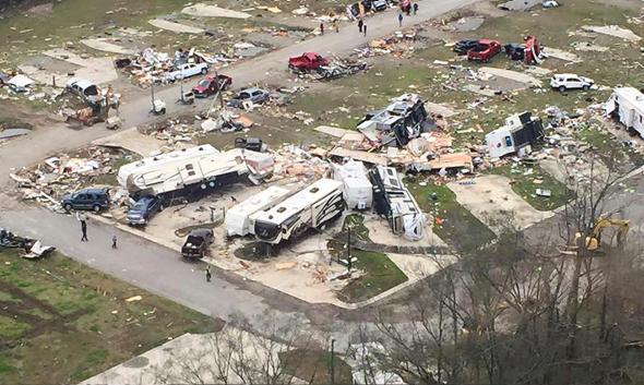 Tornado, Convent, Louisiana