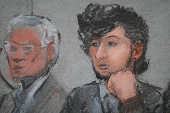 Accused Boston Marathon bomber Dzhokhar Tsarnaev.