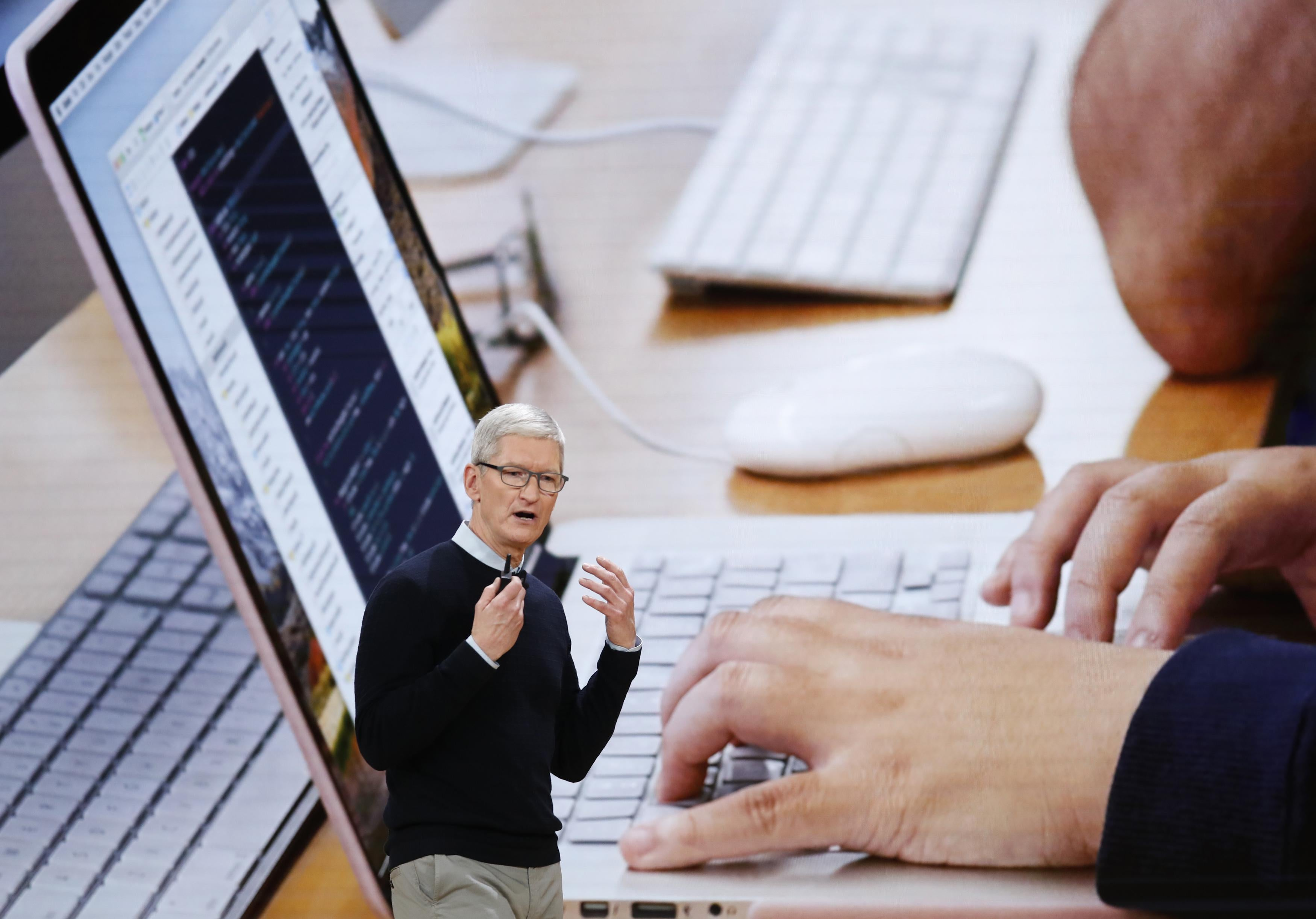 Apple CEO Tim Cook again calls for privacy regulations for companies like Facebook.