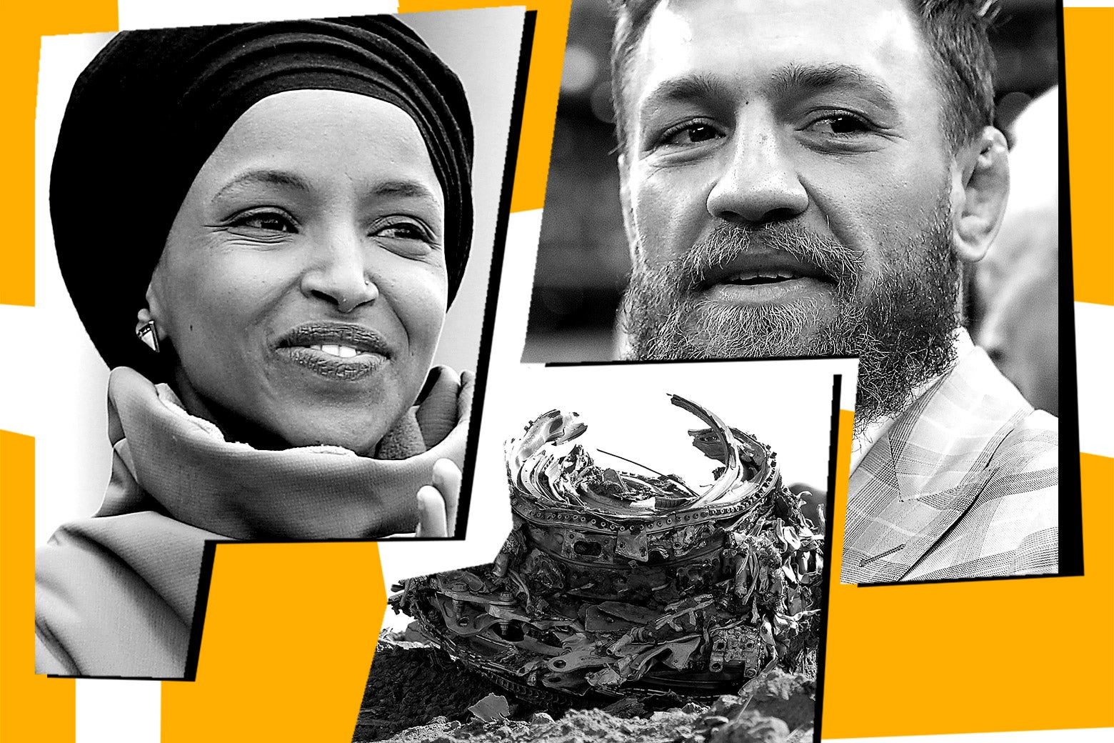 Ilhan Omar, Conor McGregor, and the remains of Ethiopian Airlines Flight 302.
