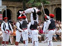 Performing a traditional Basque sword dance