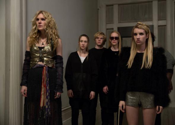 Lily Rabe as Misty Day, Taissa Farmiga as Zoe, Evan Peters as Kyle, Sarah Paulson as Cordelia, Emma Roberts as Madison