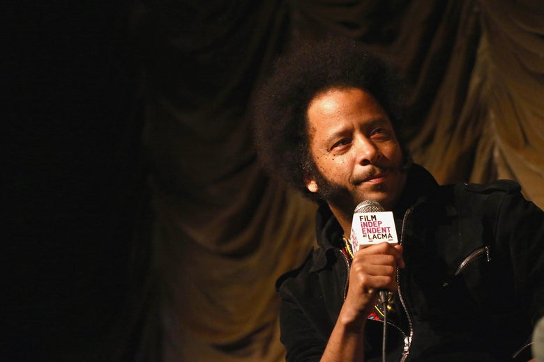 Boots Riley, looking skeptical.