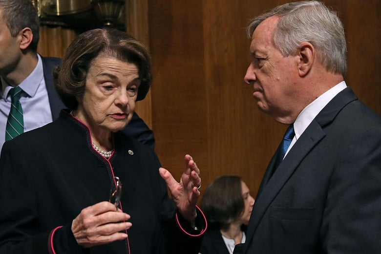 Sens. Dianne Feinstein and Richard Durbin
