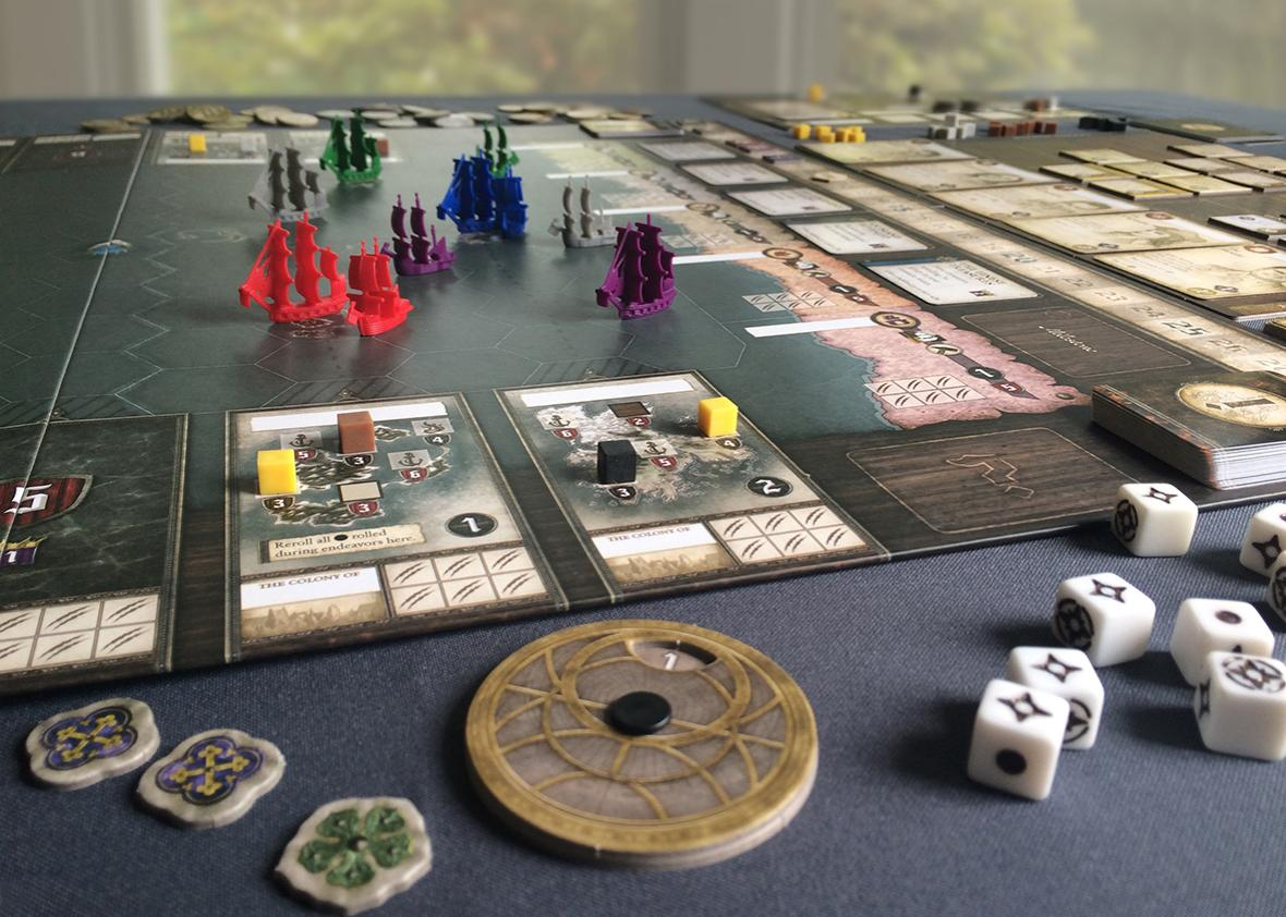SEAFALL board game.