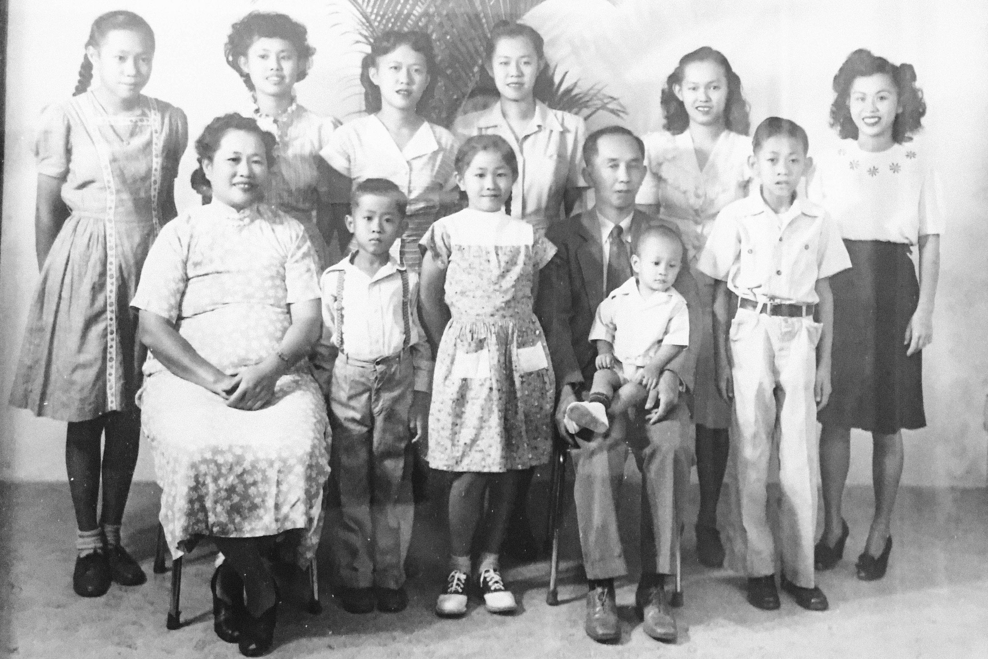 An old black-and-white family photo.