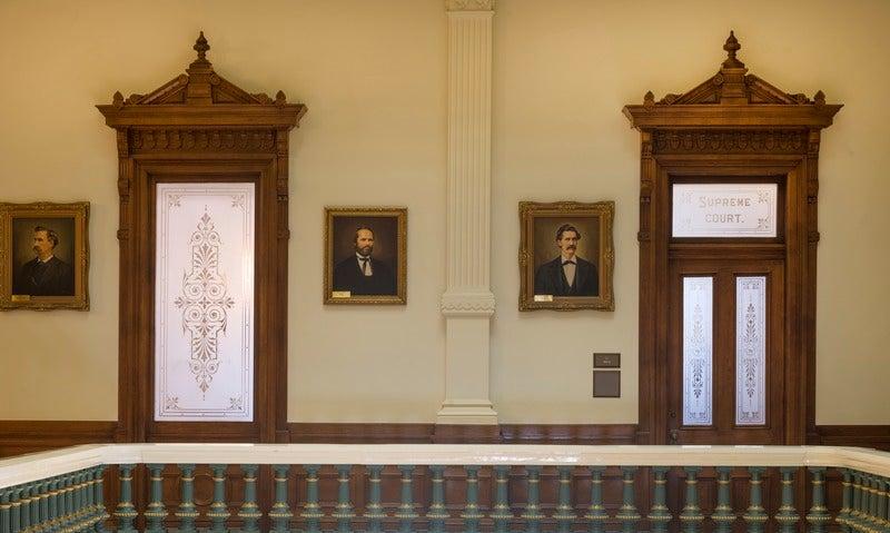 Doorways to the Texas Supreme Court.