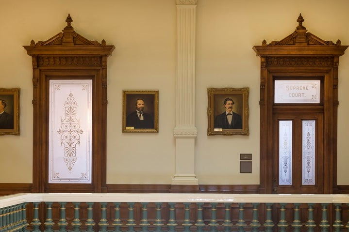Doorways to the Texas Supreme Court.