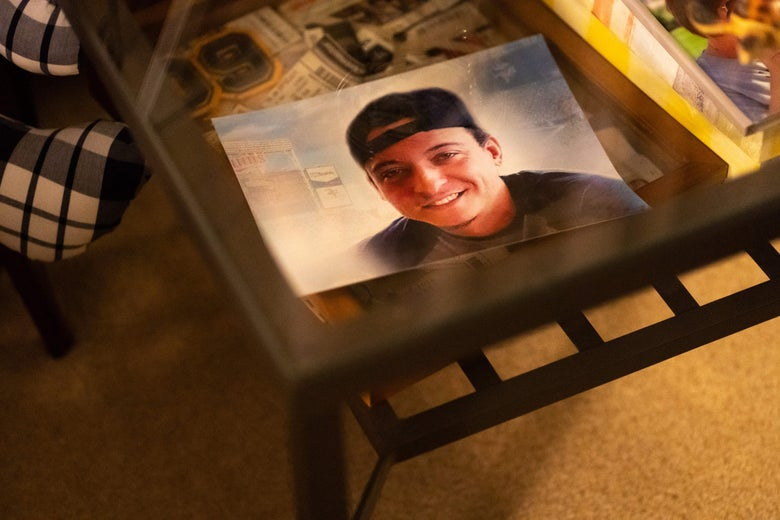 A picture of Alec on a coffee table