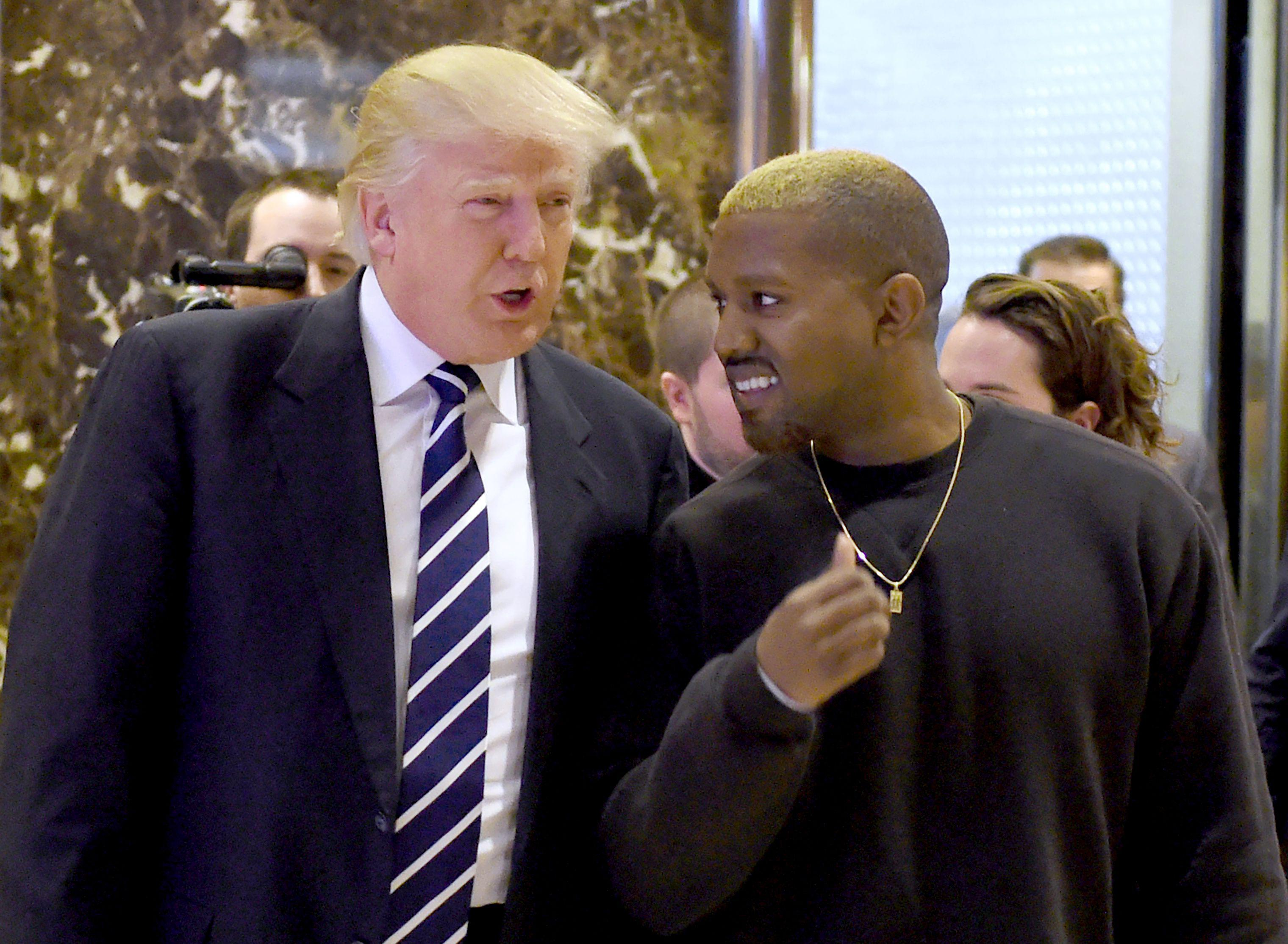 Kanye West and Donald Trump yucking it up at Trump Tower Dec. 13, 2016 in New York.