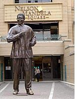 Statue of Nelson Mandela. Click image to expand.