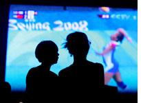 Beijing 2008 Olympics on Big Screen TV. Click to expand.