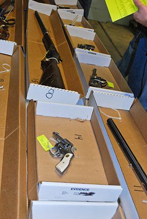An auction in Pennsylvania where the items up for bid are guns u,An auction in Pennsylvania where the items up for bid are guns used in suicides.