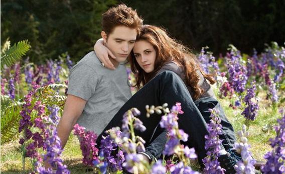 Kristen Stewart and Robert Pattinson in The Twilight Saga: Breaking Dawn - Part 2