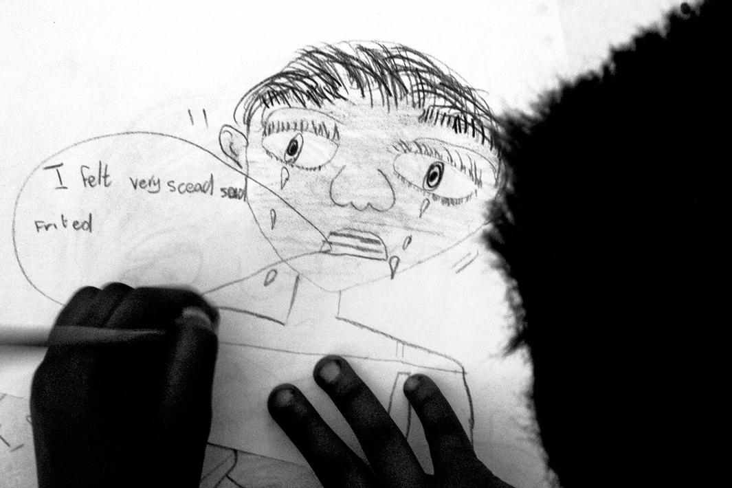 Johannesburg, Gauteng, April 2003A child's drawing at the Teddy Bear Clinic for Abused Children.