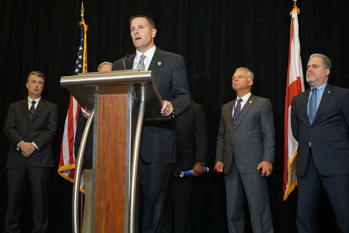 Northern Alabama U.S. Attorney Jay Town speaking at an October press conference.