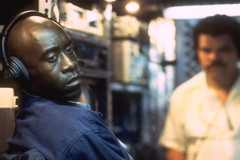 A still of Don Cheadle as Montel Gordon in the film Traffic.