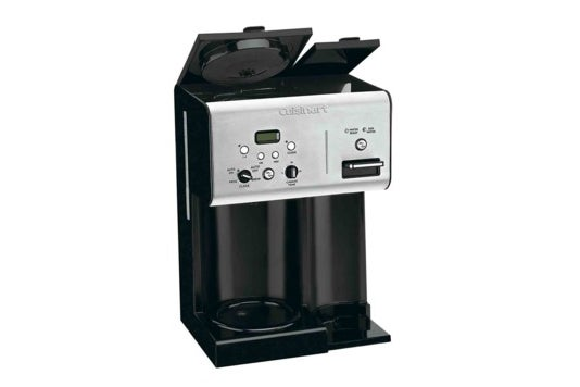 Cuisinart 12-cup programmable coffeemaker with hot water system.
