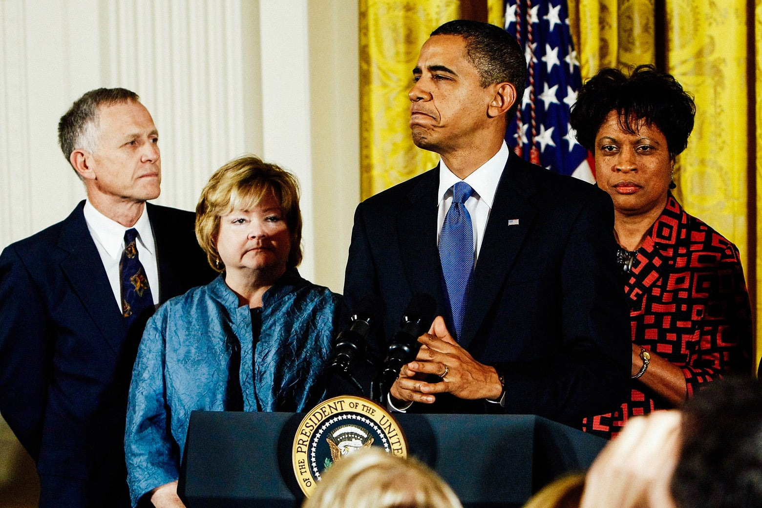 Barack Obama delivers remarks on the enactment of the Shepard-Byrd Hate Crimes Prevention Act.
