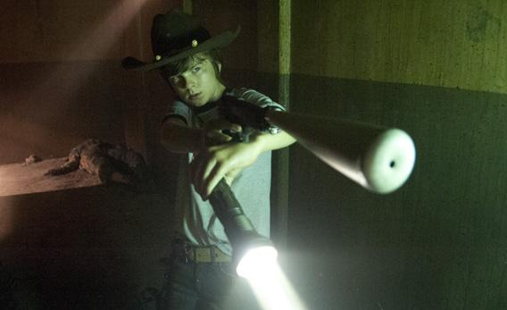 Carl Grimes (Chandler Riggs) in 'The Walking Dead.'