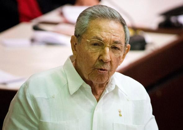 Cuban President Raúl Castro delivers a speech at the Parliament Annual Session, on Dec. 20, 2014, in Havana