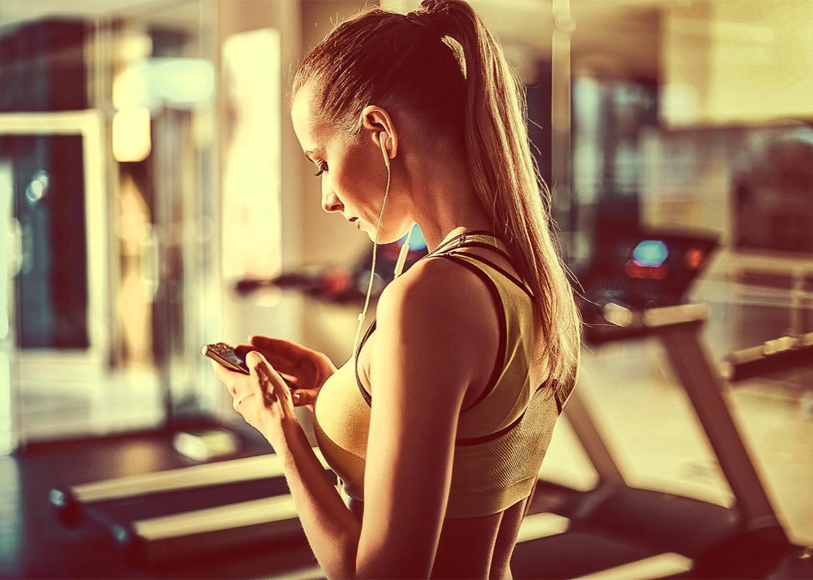 smartphone fitness tracker.