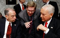GOP Sens. Charles Grassley and Orrin Hatch           Click image to expand.