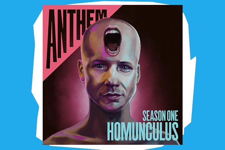 Cover of Anthem: Homunculus against a blue background
