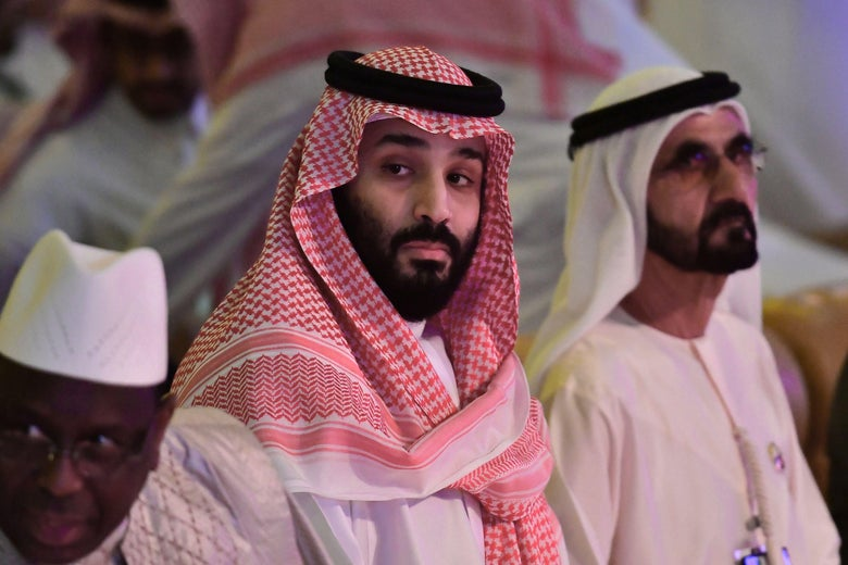 Saudi Crown Prince Mohammed bin Salman during an investment conference in the Saudi capital Riyadh on October 24, 2018.