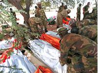 Ten African Union peacekeepers died in Darfur in September. Click image to expand.