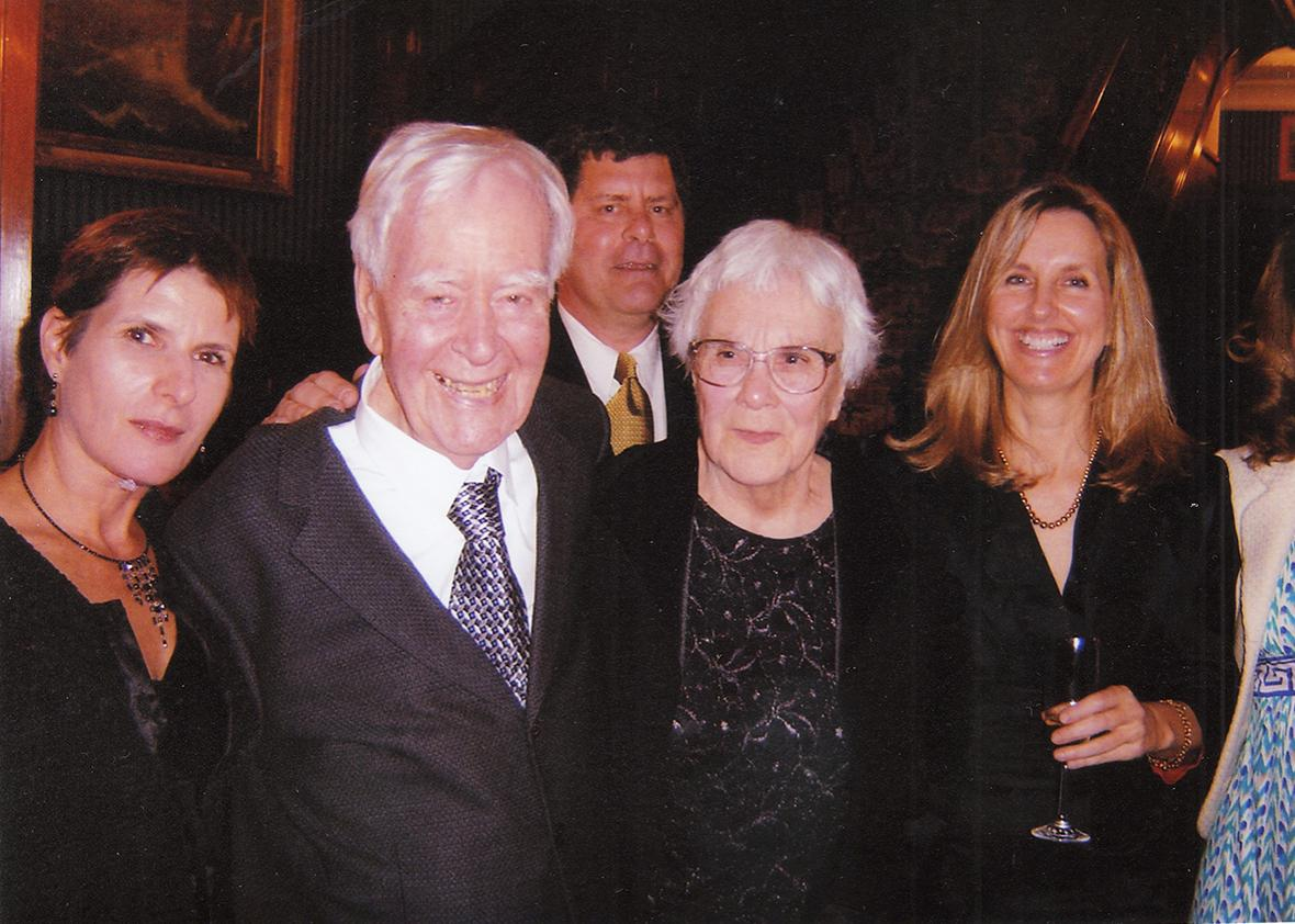 Susan Colvin, Mockingbird screenwriter Horton Foote, Horton Foote, Jr., Nelle Harper Lee, Diane McWhorter, at Lee's 80th birthday party in April 2006.